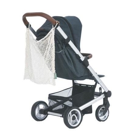 KeepJar nätkasse till barnvagn i ekobomull - natur