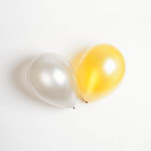 Ballonger, biologiskt nedbrytbara, guld/silver, 10-pack