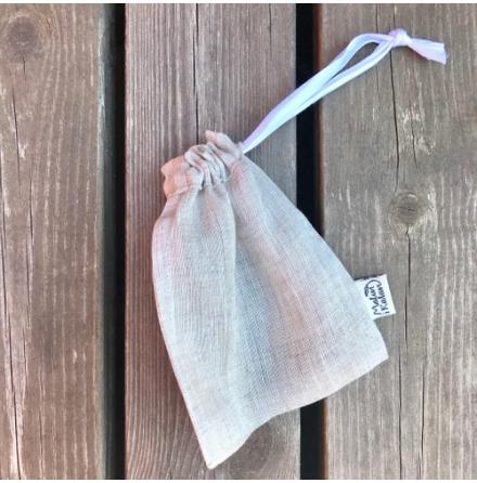 Malin i Ratan, eko tvålflakes i skrubbpåse - shea & avokado, ingen tillsatt doft