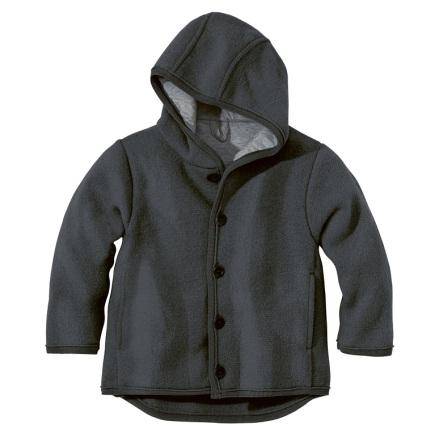 Disana jacka i ekologisk filtad/kokt ull, mörkgrå