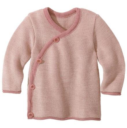 Disana omlott-tröja i ekologisk merinoull, rosa/natur
