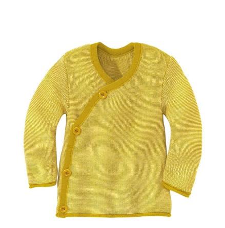 Disana omlott-tröja i ekologisk merinoull, curry/natur