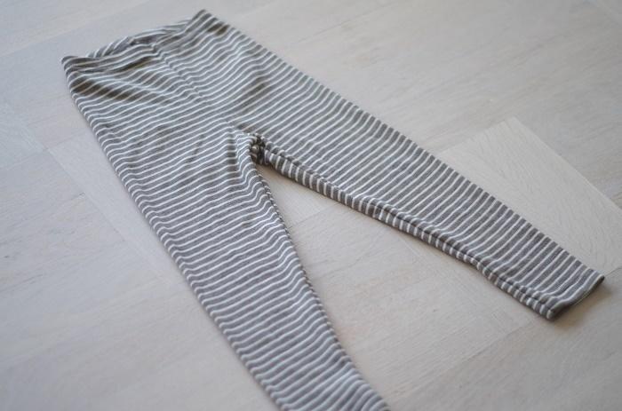 Engel leggings i ull/silke, valnöt/natur