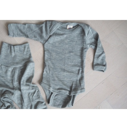 Engel body i ull/silke, grå