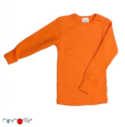 Manymonths tröja i naturlig merinoull, orange