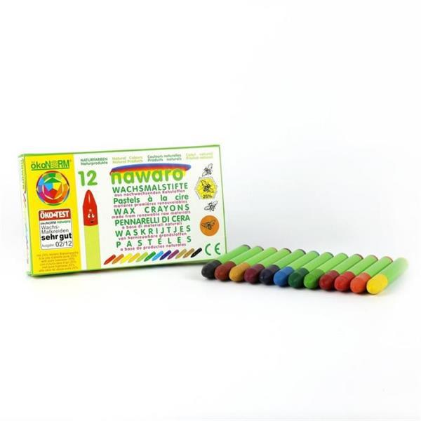ökoNORM knubbiga vaxkritor, 12 färger