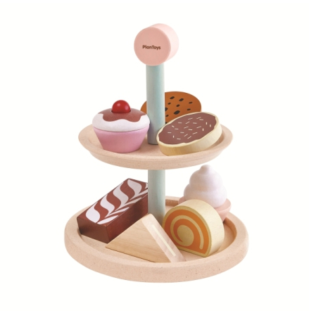 PlanToys tårtfat med småkakor
