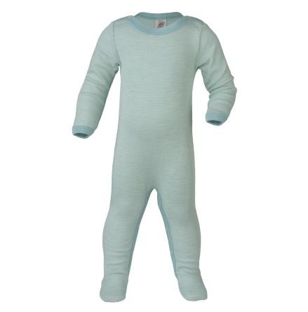 Engel overall m fot i ull/silke, mint/natur