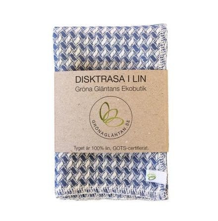 Disktrasa i ekologiskt GOTS-certifierat lin - Blå