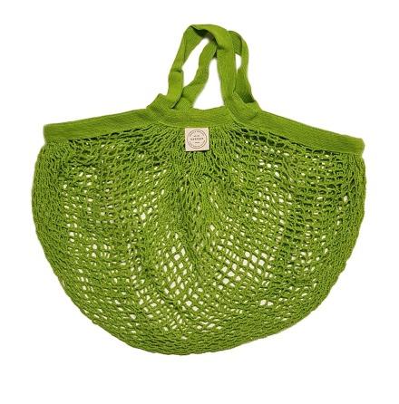 KeepJar Nätkasse grön, ekologisk bomull med korta handtag
