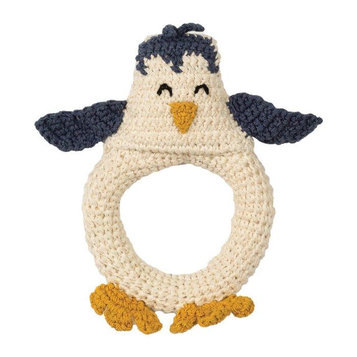 Hoppa Virkad Pingvin Skallra