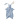 Hoppa Tino Kanin snutte docka deep blue/off white