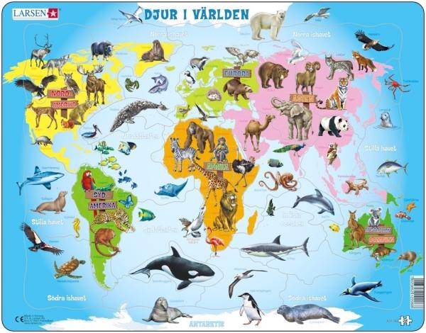 Larsen Pussel Djur i världen 28 bitar