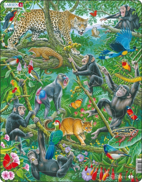 Larsen Pussel Afrikansk regnskog 32 bitar