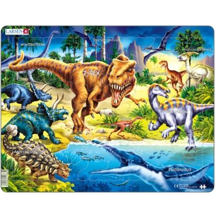 Larsen Pussel Dinosaurier 57 bitar