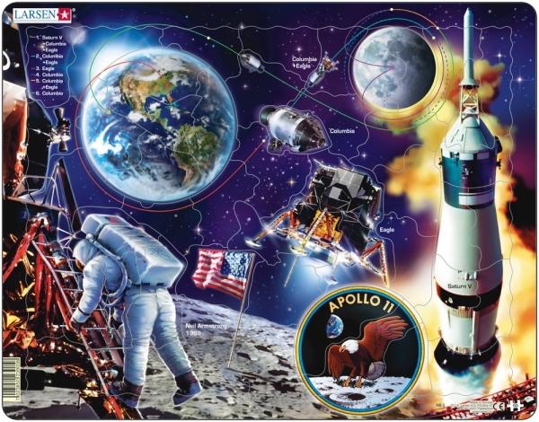 Larsen pussel Apollo 11 50 bitar