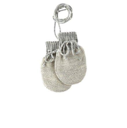 Disana stickade bebisvantar i ekologisk merinoull, grå/natur
