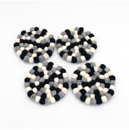 Fair Monkey - Underlägg Små Granit 4-pack