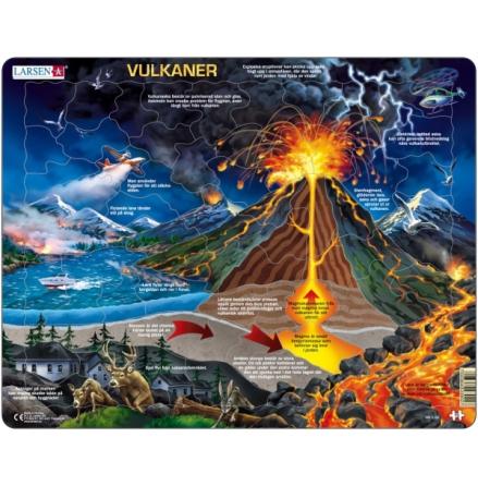 Larsen Pussel Vulkaner och hur de fungerar, 70 bitar