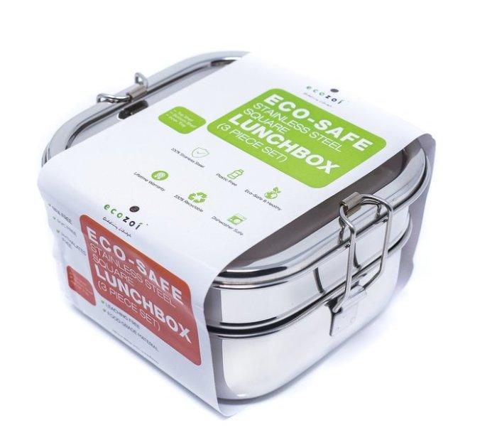 Ecozoi - Matlåda Rostfritt Stål - Bento 3 Lager