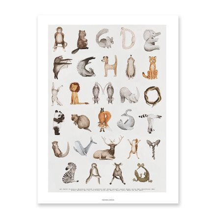 Fashionell - Djurens ABC Poster 30x40