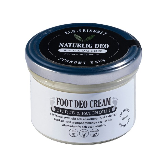 Naturlig Deo - Foot Deo Cream Citrus&Patchuoli Economy Pack 200 ml