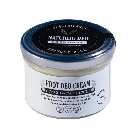 Naturlig Deo - Foot Deo Cream Citrus&Patchuoli Economy Pack 200 ml