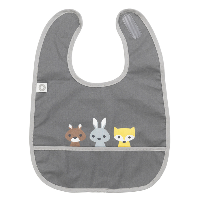 Franck & Fisher Eat dark grey friends bib Haklapp