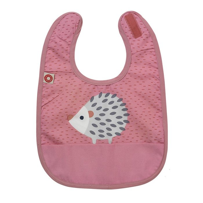 Franck & Fisher Eat pink hedgehog bib haklapp