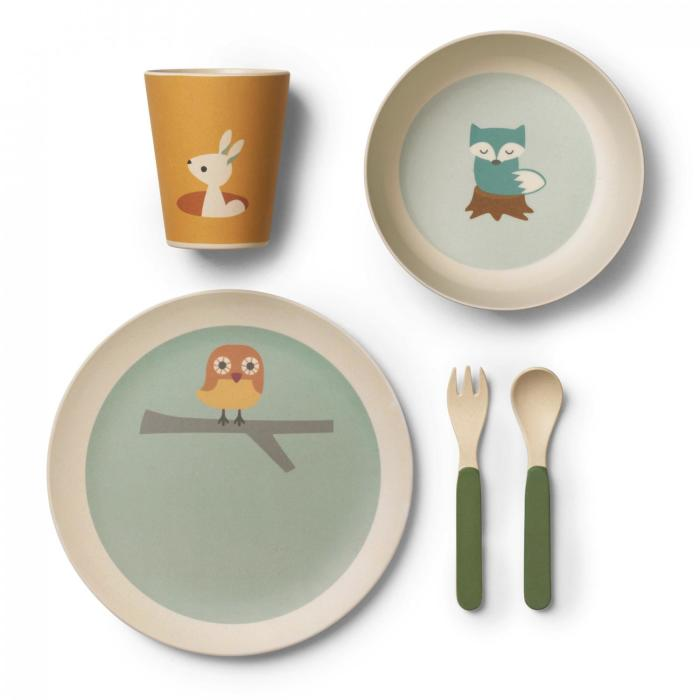 Franck & Fisher Three friends bamboo dinner set