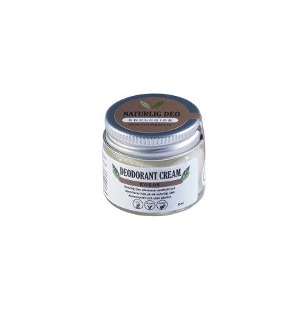 Naturlig deo, Ekologisk Deodorant Cream Kokos, 15 ml