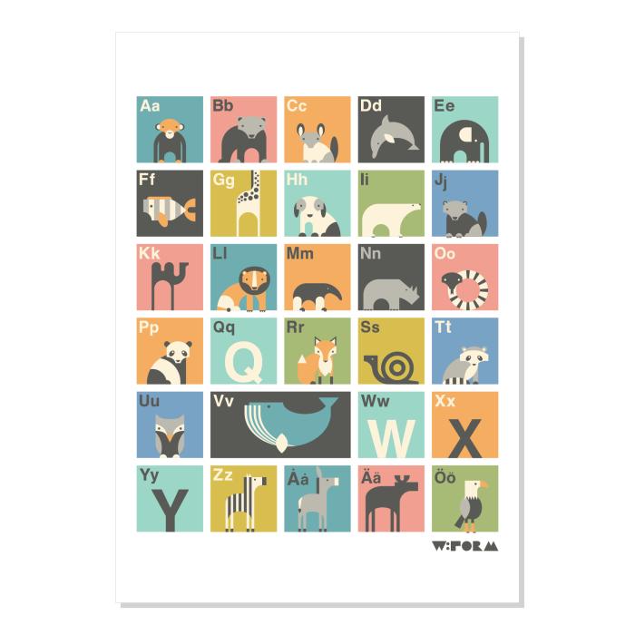 W:FORM Poster Multicolor ABC