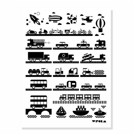 W:FORM Poster Vehicles B/W