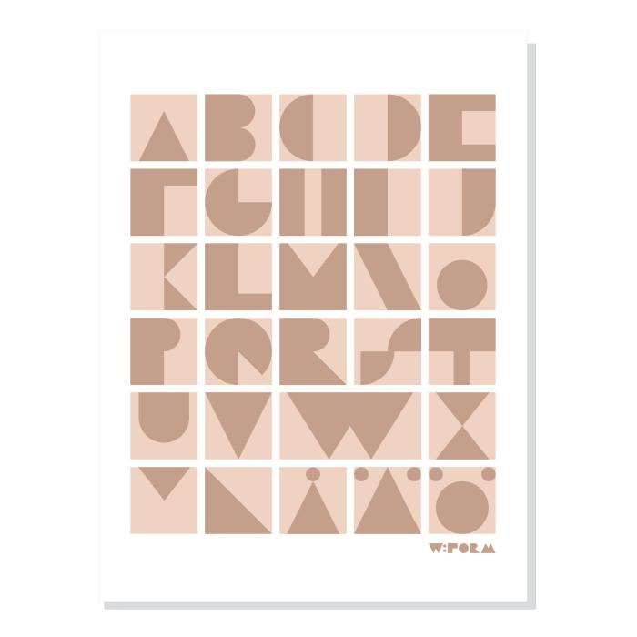W:FORM Poster Dusty Rose ABC Blocks