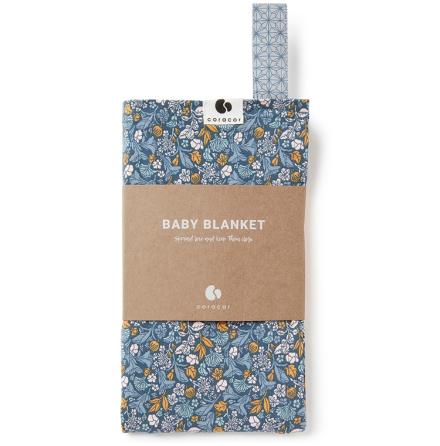 Coracor Tinyflower Blue Babyfilt