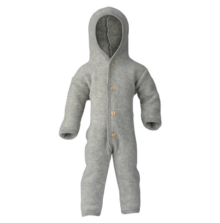 Engel overall i ullfleece, Light Grey Melange