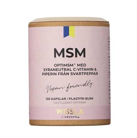 Wissla of Sweden MSM + C-vitamin + Piperin