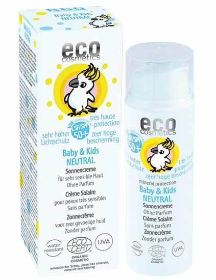 Eco Cosmetics Baby & Kids neutral solkräm 50+, 50 ml