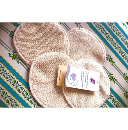 Engel amningsinlägg i ull/silke, 14 cm, 2-pack