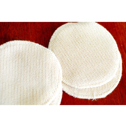 Engel amningsinlägg i ull/silke, 11 cm, 2-pack
