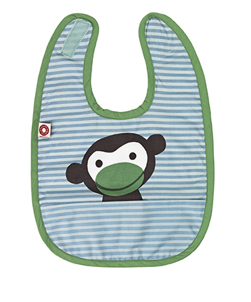 Franck & Fischer food bib blue monkey