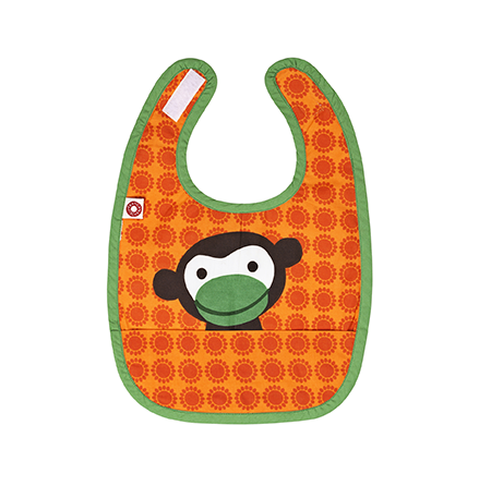 Franck & Fischer food bib orange monkey