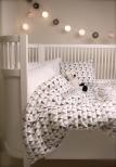 Littleheart bäddset spjälsäng confetti grå