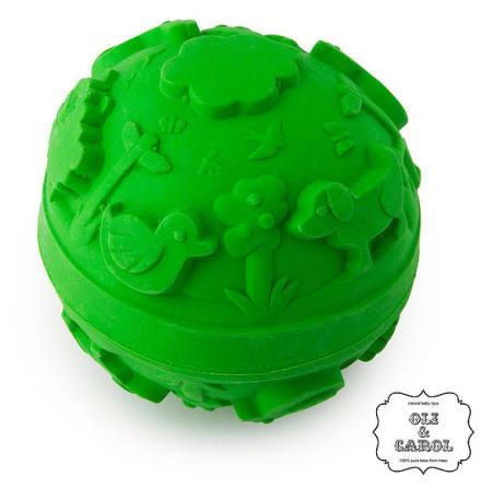 Oli & Carol naturgummiboll, grön