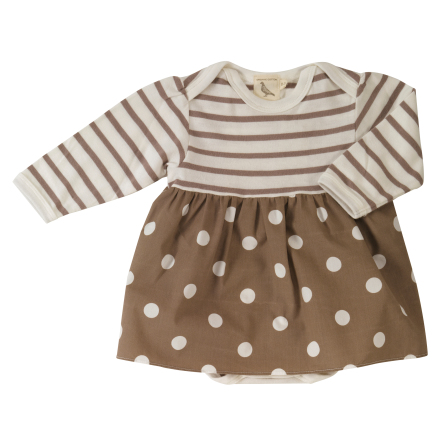 Pigeon taupe spot skirt & body