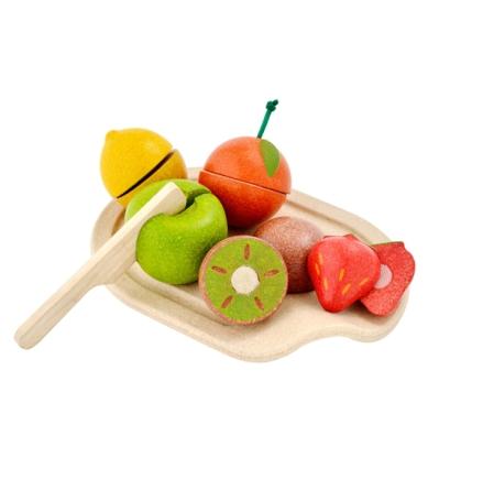 PlanToys bricka med frukt