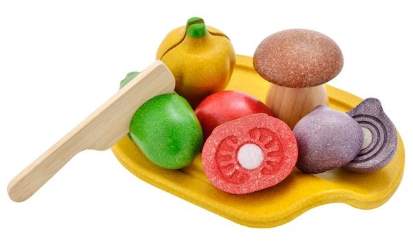 PlanToys grönsaker med skärbräda