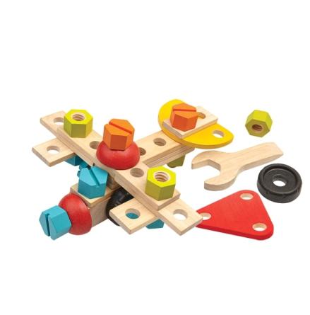 PlanToys byggsats i trä, 40 delar