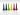 ökoNORM droppformade babykritor, 6 färger