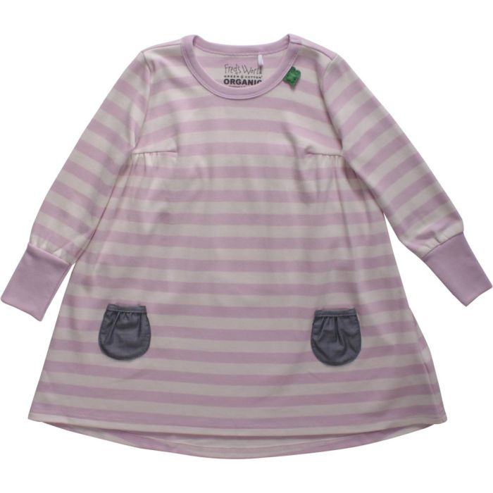 Fred's world stripe dress baby rose